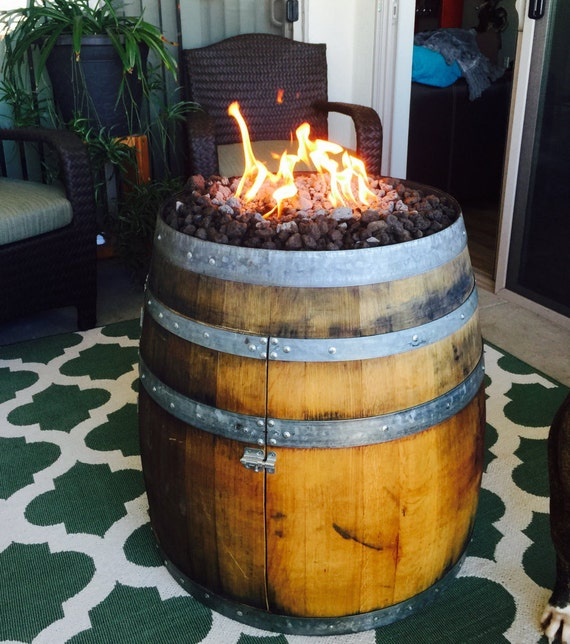 Reclaimed Wine Barrel Fire Pit By Norcalbarrelworks On Etsy