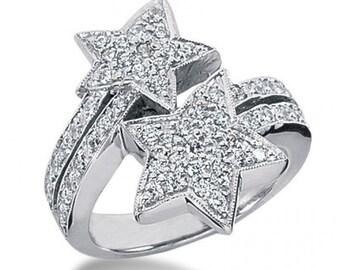 14k 1.00ctw Diamond Patriot Ring