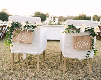 Mr. and Mrs. Chair Signs Set