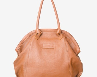 "Vegetable tanned leather bag - ""Gloriana"" Brown"