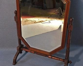 Antique Mahogany Victorian Dressing/Table Mirror Circa. 1880