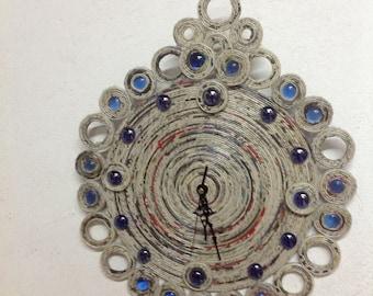 Clock, Blue Crystal
