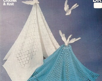 Knitting & Crochet Pattern Heirloom Baby Shawls Traditional DK PDF Instant Download