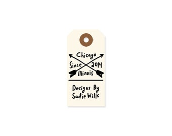 Arrow Shop Stamp - Custom Business Rubber Stamp - Custom Hand Lettered Stamp