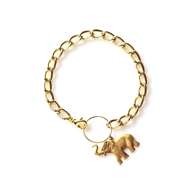 sale bracelet elephant bracelet elephant charm by manictrout