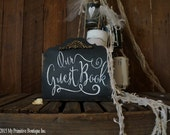 GUEST BOOK SIGN, Wedding Sign, Guestbook sign, Vintage Inspired Wedding, Chalk Board Sign, Self Standing, Chalk Art, Chalkboard, Stand Alone