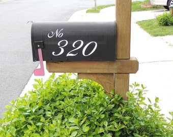 Elegant French Country Vinyl Decal Mailbox  Numbers FREE Domestic Shipping