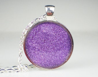 Lavender Purple Glitter Nail Polish Necklace Jewelry Tru Passion Nail Polish