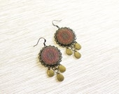 Red Mandala Earrings - Istanbul Collection - by Loschy Designs