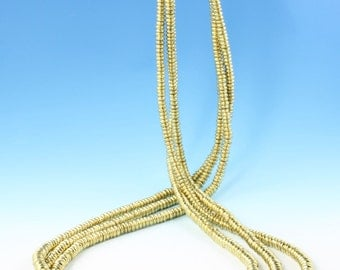 BRASS Spacer Beads from India - 4mm  - STRAND