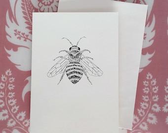 Honey Bee Illustration Note Card