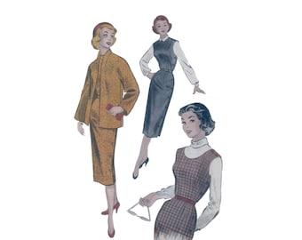 50s Wiggle Dress pattern Jumper pattern Swing Jacket pattern vintage 34-28-37 Butterick 7031