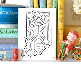 "INDIANA Maze 5x7"" Postcard 