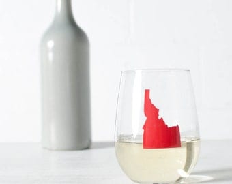 All 50 USA STATES - screen printed stemless WINE drinking glasses