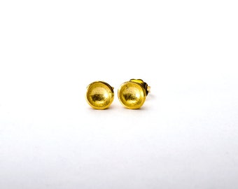 14K Yellow Gold Vermeil Darling Bowl Studs- Recycled Sterling Silver