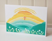 Easter Cards, Blank Note Cards Set, Religious Note Cards, Christian Cards, Religious Easter Card, Note Cards, The Lord Has Risen