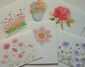 Flower Note Cards, Assorted Card Set, Blank Note Cards, All Occasion Cards, Greeting Cards, Thank You Cards, Note Cards, Stationery