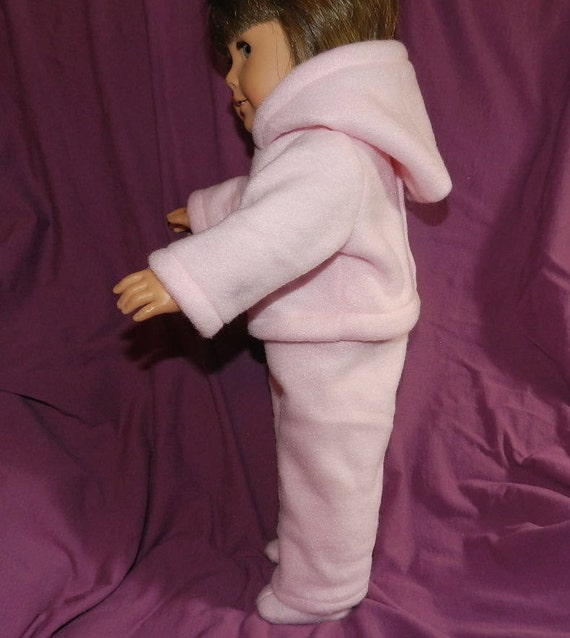 "American Girl Doll Clothes Pink Snow suit with Hoody, Pants and Boots fit 18"" dolls"