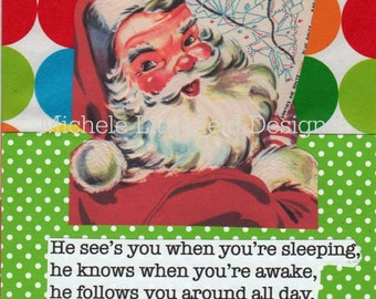Santa The Stalker A Funny Holiday Christmas Card Mature Humor