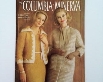 1960's Knitting Pattern Booklet - Magnificent Mohair by Columbia Minerva