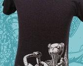 Mens Tshirt - Mr HugZ shirt - Unisex Robot Teddy Bear Kaiju Tee