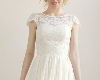 Sample Sale - Alencon Lace Wedding Separate - Augustine Top