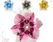 Swarovski Ring;crystal ring;Flower ring, Swarovski Crystal Ring 6 Petals by CandyBead