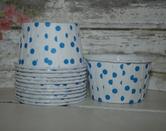 Blue Nut Cups, set of 12, baking cups, dessert cups, ice cream cups