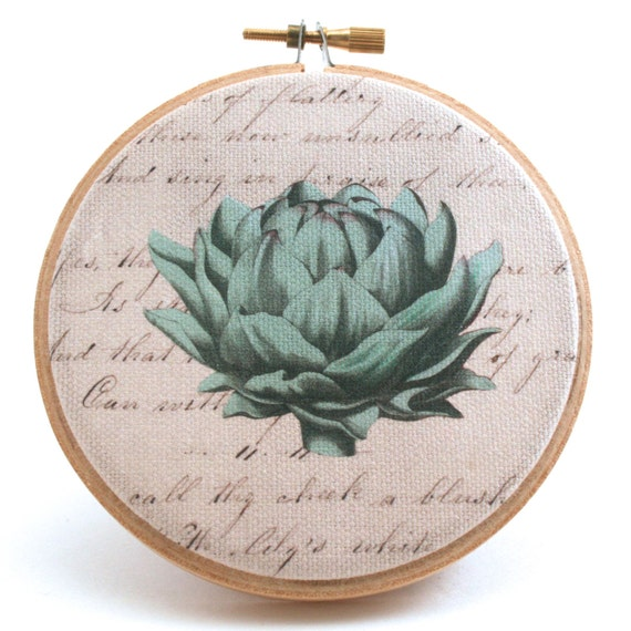 Items similar to art decorative arts hoop art for Artichoke decoration