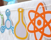 Instant Download - SCIENCE Party - Science Symbol Shapes Printable (Blue)