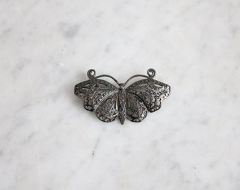 sterling butterfly brooch / sterling silver brooch / filigree brooch
