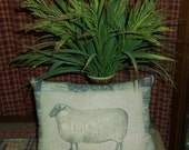 MADE TO ORDER Printed Wooly Sheep Pillow Tuck