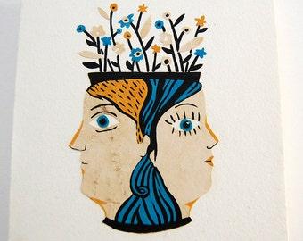 SALE - Face Vase (original painting)