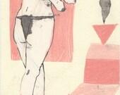 SALE! Smoke Machine No.3 (original drawing, 2015)