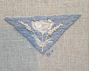 hand embroidered floral art