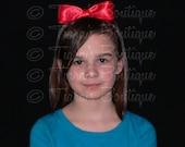 Red Bow Headband - Snow White Headband - Photo Prop - Girls, Baby, Toddler, Teen, Adult Headband