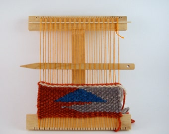 Regular Hokett Loom Kit - Maple Wood Weaving Loom - Handmade Lap Loom - Medium Tapestry Loom - Travel Portable Loom - Small Frame Loom