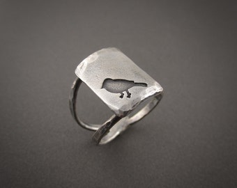 Spring Robin Sterling Silver Double Band Ring