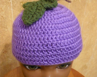Crocheted Grape Hat Any Size Made to Order