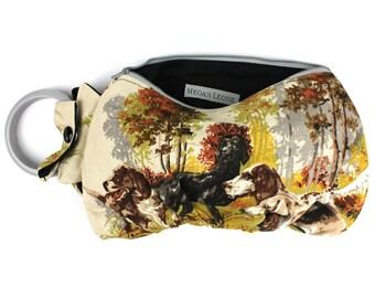 Hunting Dogs Bracelet Wristlet Purse