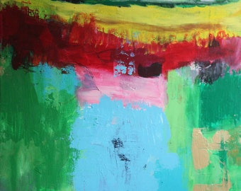 Abstract Landscape Painting Original Abstract Art Modern Contemporary Acrylic Painting on Canvas