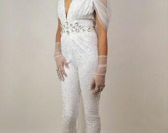 Naomi Sequin Bridal Catsuit