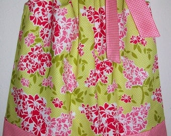 Pillowcase Dress with Flowers Riley Blake Floral Dress with Gingham Summer Dresses baby dresses Kids Clothes girls dresses Pillow Case Dress