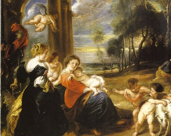 Holy Family with Saints by Rubens