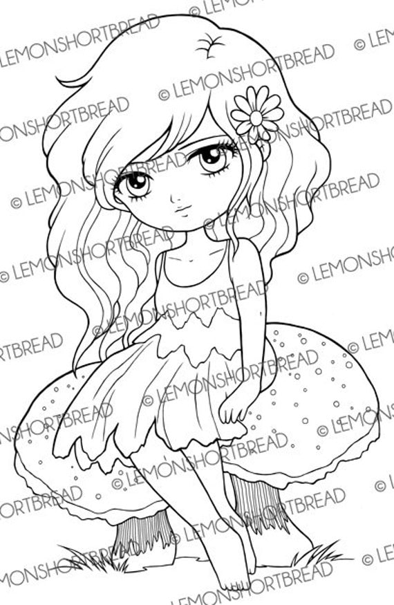 fantasy mushroom coloring pages - photo#6