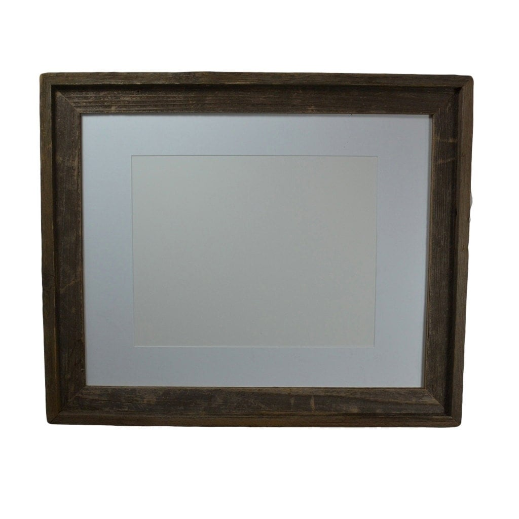 16x20 eco chic wood frame with white 11x14 mat by barnwood4u for 16x20 frame