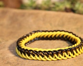 Black and Yellow Stretchy Half Persian Chainmaille bracelet