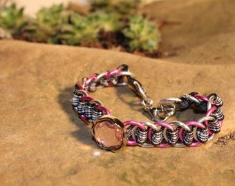 The Dundee Bracelet - Bling edition - Menzies - Pink & Silver