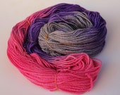 Worsted Weight - Hydrangea Hues-  100 percent wool hand dyed - made to order