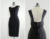 1950s Cocktail Dress • 50s Couture Dress by Grenelle Estevez • Vintage 1950s Dress •  1950s Party Dress •  Estevez Dress • 50s Wiggle Dress